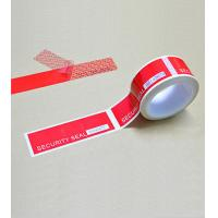 China Tamper Evident Security Tape With Perforation Liner and Serial Number wholesale