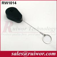 China ABS Plastic Anti Theft Retractable Pull Box Recoiler Drop Shaped With Key Ring wholesale