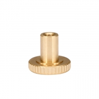 China Golden 15mm X 12mm Heatbed Ultimaker2 M3 Knurled Nut Leveling Fixing Nut wholesale