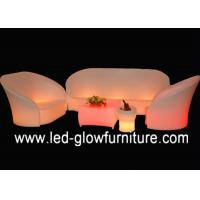 China Modern L shaped LED Bar Chair color changing , Comfortable sectional night club sofa wholesale