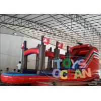 China Parties Inflatable Pirate Ship Slide With Mini Swimming Pool For Kids Play wholesale