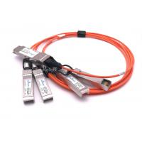 China Durable Cisco SFP Modules QSFP-4X10G-AOC1M QSFP To 4 SFP+ Active Optical Breakout Cable wholesale