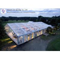 Buy cheap 500 People Transparent PVC Tent , Large Marquee Wedding Tent ABS / Glass Wall from wholesalers