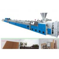 China Fully automatic PVC WPC Plastic Profile Extrusion Line Wood Plastic Composite Machinery wholesale