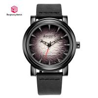Japanese Quartz Movement Mens Stainless Steel Watches Round Case Shape