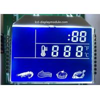 China Blue Background HTN LCD Display , 7 Segment Kitchen LCD Segment Display wholesale