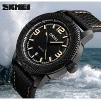 Quality Skmei Joler Fashion Large Dial Genuine Leather Strap Waterproof Quartz Men Wrist Watches 9138 for sale
