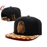 China Promotional Leopard Custom Strapback Hats Velcro Strap Back Hats wholesale