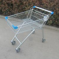 China Zinc Plated Metal Store Supermarket Shopping Trolley Grocery Push Cart on sale