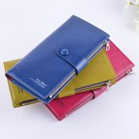 China Female Genuine Leather Clutch Wallet Large Capacity With Zipper Buckle wholesale