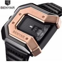 Buy cheap Wholesale Creative Men Genuine Leather Strap Waterproof 30m Square Dial Casual Wrist Watches BY-5116 from wholesalers