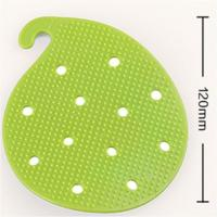China Non Slip Heat Proof Mat Potato Cleaning Brush PVC 12 * 9.8 cm For Vegetable wholesale