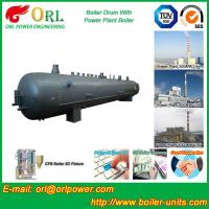 China Heat preservation biomass boiler mud drum ORL Power ASME certification manufacturer wholesale