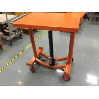 China Foot Operated Hydraulic Post Lift Table 635 Mm Lowest Height For Heavy Duty Shop wholesale
