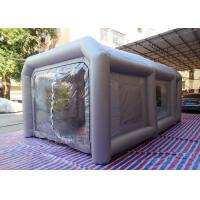 China Portable waterproof material inflatable car paint spray booth with cotton filter on sale