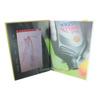China Hard Cover Video Brochure 10 Inch TFT High Resolution One Button Control wholesale