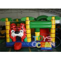 China Toys Ocean Original Design Inflatable Tiger Jungle Theme Bouncer With Slide wholesale