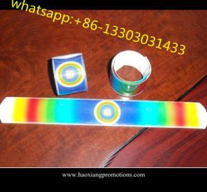 China Cheap brand name custom made Silicone Slap wristband and Silicone Slap Band wholesale