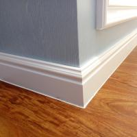 China 100mm New 3D Decor Material WPC White Skirting board Moulding PVC Foam Skirting Board,skirting board profiles wholesale