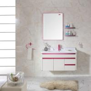 China Newly Hot Sale Wall Mounted  Washroom Cabinet Furniture Set wholesale