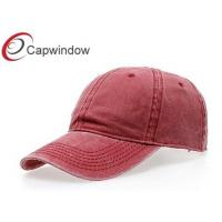 Quality Solid Color Cotton Baseball Caps with Velcro Strap Closure for Unisex for sale