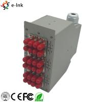 Buy cheap 24 Ports Industrial DIN-Rail Fiber Patch Panel with 12pcs ST/PC SM Duplex from wholesalers