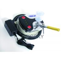 China Mobile Gravity Feed Airbrush Tanning Kit Machine with Oil Free Compressor and Gun 30PSI wholesale