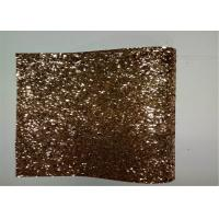Home Decoration Gold Glitter Fabric , Thick Glitter Fabric For Dresses