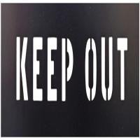 Keep Out PVC Stencil Rectangle Attention Safety Traffic Paint Stencils