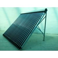 China Flat Roof Style Heat Pipe Solar Thermal Collector 24 Tube, Aluminum Alloy Frame wholesale