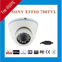 China Free Shipping Effio Sony CCD 960H 700TVL Color 24 IR Indoor Outdoor mini CCTV Dome Security Camera wholesale