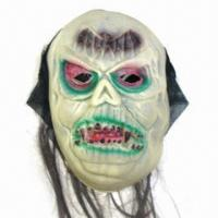 China 100% Polyester Cloth and EVA Devil Mask, Suitable for Halloween wholesale