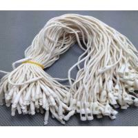 China custom cheap white plastic seal String hang tag with bullet clasp manufacturer wholesale