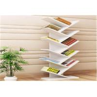China Unique Design Slim Book Storage Rack Shelf Bookcase Shelving Units Organiser wholesale