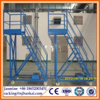 China European 6 Step to 7 Step Rolling Warehouse Ladder for Maintenance Areas wholesale