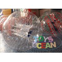 China Amazing Durable Clear Inflatable Human Bumper Ball With TPU / PVC Material wholesale