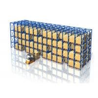 China Q235B Steel Material Drive In Racks Design , Drive Through Pallet Racking Customized Size wholesale