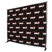 China Custom Telescopic Backdrop Stand , Step Repeat  Adjustable Banner Stand wholesale