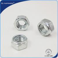 China Professional M6-M33 Galvanized Hex Lock Nut , Din 980 Nut Natural Color wholesale