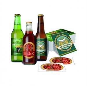 China OEM Waterproof Metalized Labels Custom Adhesive Sticker Beer Labels For Wine Bottle wholesale