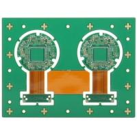 China Four Layer Rigid Flexible PCB Printed Board Lead Free HASLSurface Finishing Green Solder Mask wholesale