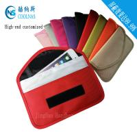 China Cellphone Red RFID Travel Bags / Signal Shield Rfid Protection Wallet wholesale