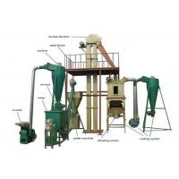 China Wood / Straw Pellet Production Line , Low Energy Wood Pellet Maker Machine on sale