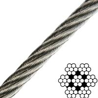 China 1/16 Inch 7x7 304 Stainless Steel Aircraft Cable Breaking Strength 480lb wholesale