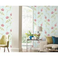 China TV Background Mould-Proof Modern Removable Flowers Wallcovering Wallpaper Eco-Friendly on sale
