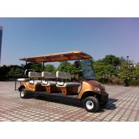 CE Approved Eight Seater Electric Club Car White Color ADC Separately Motor