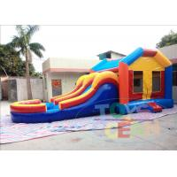 China Moonwalk Slide Inflatable Bouncer Combo Waterproof With Swimming Pool wholesale