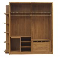 China Open doors cloth armoire by wood panel with Sock and tie tray inside drawer chest in metal sliding rail outside racks wholesale