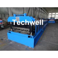 China Roof Wall Panel Cold Roll Forming Machine / Roof Wall Cladding Roll Forming Machine With PLC Control System wholesale