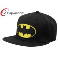 Quality Leisure Fitted Baseball Caps Pure Acrylic Embroidered Black DC Comics for sale